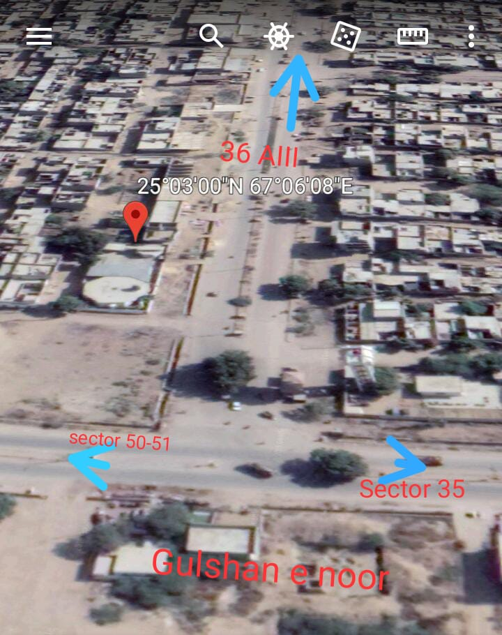 Plot for sale in Taiser Town New Lyari Expressway Surjani