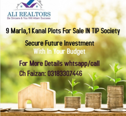 9 MARLA PLOT FOR SALE IN TIP SOCIETY KHAYBAN E AMIN ONLY 52 LAC